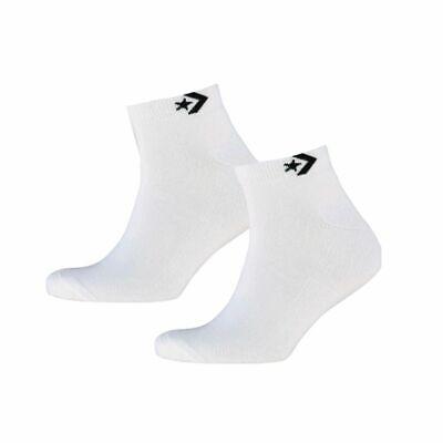 Converse Herren Chucks Halb Kissen Low Cut viertel Sneaker Socken Weiß > UK 6-11