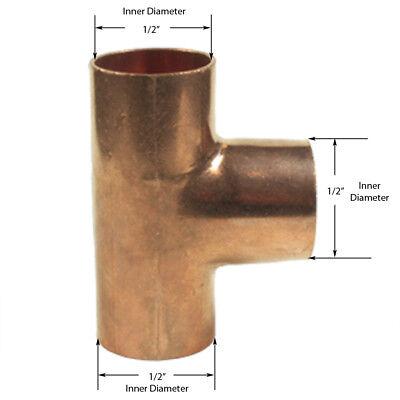Libra Supply 38 Inch 3838-inch Copper Pressure Sweat Tee C X C X C 25pcs