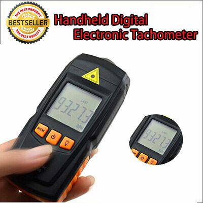 Handheld Digital Tachometer Laser Rpm Tach Meter Motor Speed Gauge Uk