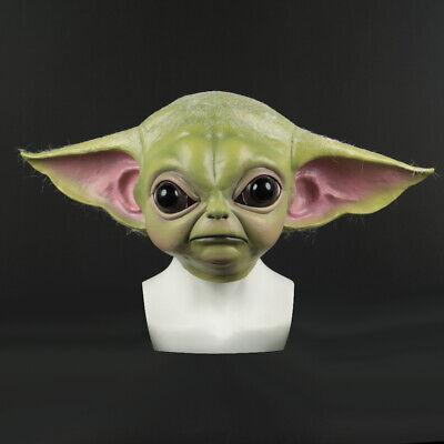 Star Wars Mask (2019 Star Wars Cosplay The Mandalorian Baby Yoda Mask Fancy Dress Helmet)