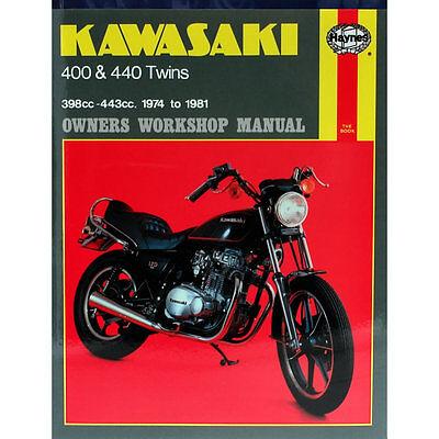 Kawasaki KZ400 Z400B Z400D Z400G Z440A Z440C 1974-1981 Haynes Workshop Manual