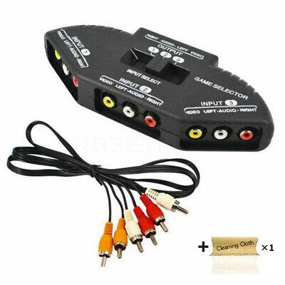 3 In 1 RCA AV Audio Switcher Video Splitter Selector Best TV Antenna for XBox