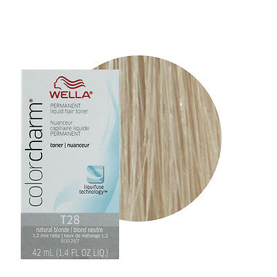 Wella Color Charm Permament Liquid Hair Color Toner 42mL Natural Blonde T28
