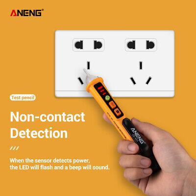 Sin Contacto Voltaje Alerta Bolígrafo Eléctrico Luz LED Bolsillos Detector