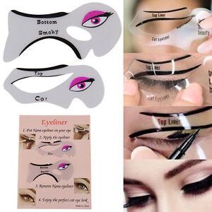 Eyeliner Stencil - Eyeshadow Guide - Smokey Cat -Quick Eye 2 Pcs Makeup Tool Set