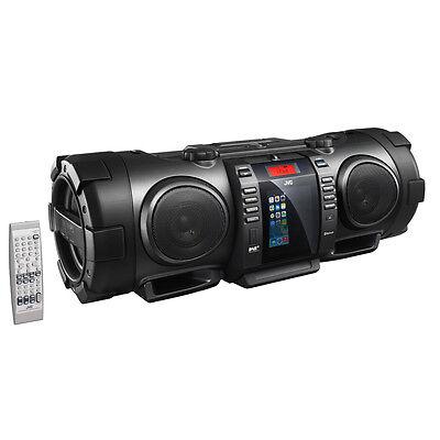 JVC RV-NB100 Bluetooth Portable CD Boomblaster with Lightning Dock and DAB