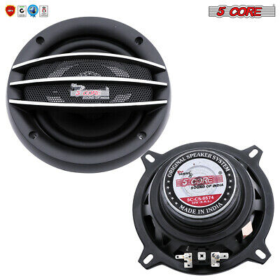 5 Core Car AUDIO STEREO Speaker 5″ Coaxial 2 Way FULL RANGE 500W PMPO Pair 0574 Car Audio