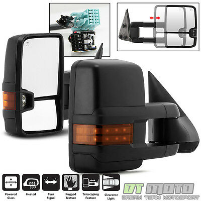 Left+Right 2003-2006 Chevy Silverado Sierra Power+Heated+LED Signal Tow Mirror