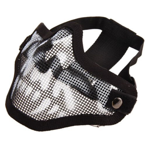 Protective Tactical Airsoft Striker Steel Metal Mesh Lower Half Face Skull Mask
