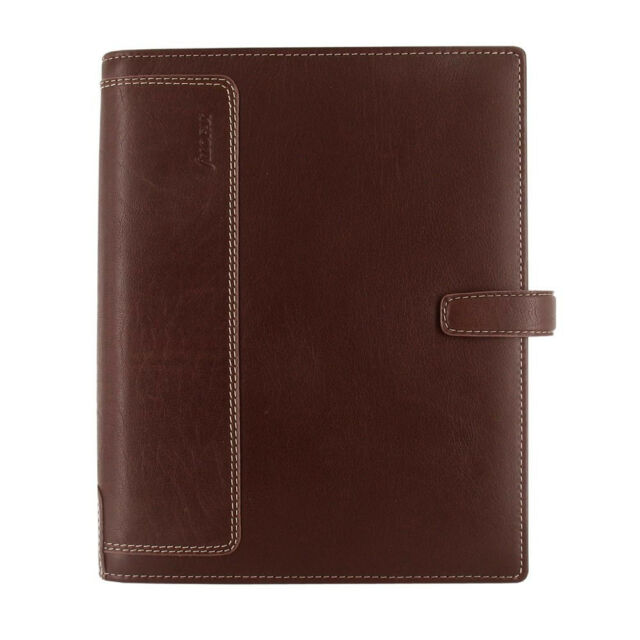 Filofax A5 Size Holborn Organiser Notebook Diary Brown Buffalo Leather - 025122