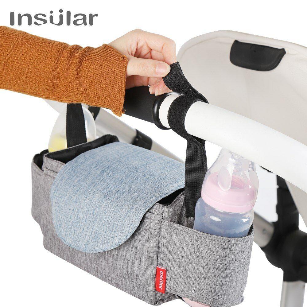Insular Baby Stroller Bag Diaper Storage Organizer Travel Fe