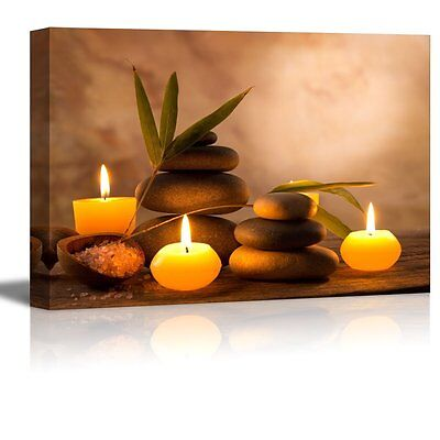 - Canvas Art Prints- Spa Still Life with Aromatic Candles and Zen Stones-24