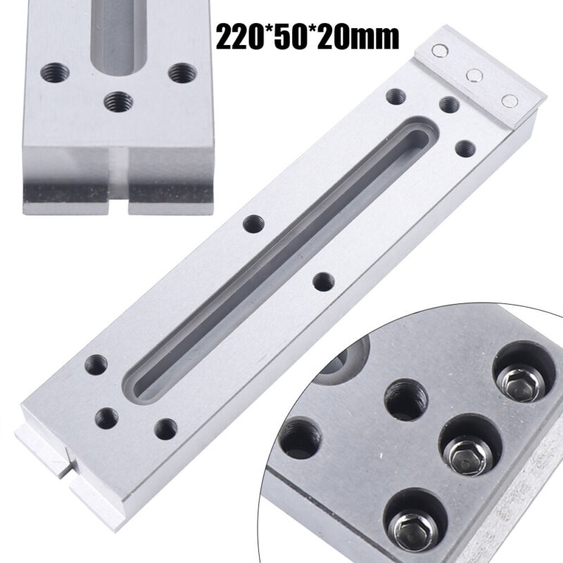 Slow Wire Cut EDM Fixture Board Stainless Jig Tool220x50mm For Level Clamping US