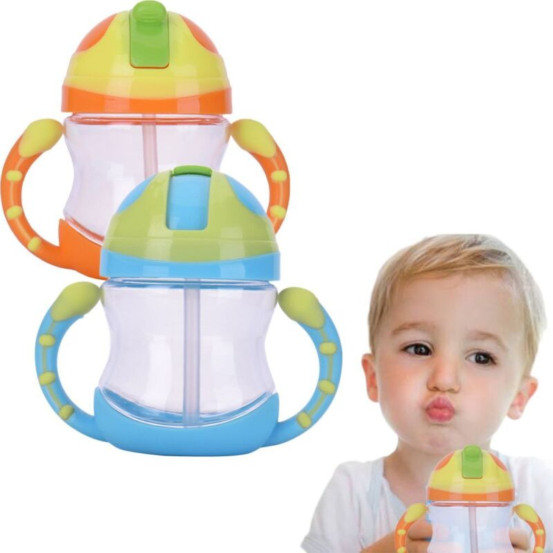 Leakproof Kids Water Baby Straw Cup Infant Bottle Insulation Drinking Tool