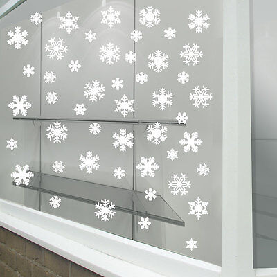 Christmas Xmas Snow Flakes Display Shop Window Decorations Decals Stickers A289 ()