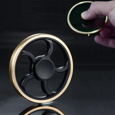 Hand Spinner Round Fidget Gyro Torqbar Brass Finger Toy EDC Focus ADHD Autism