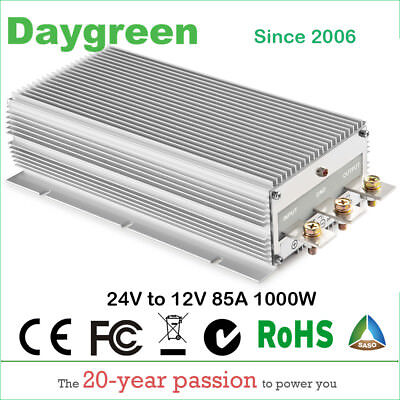 24v To 12v 80a 85a 1000w Buck Step Down Dc Dc Converter 80a Voltage Regulator Us