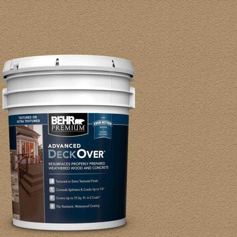 BEHR Premium Advanced DeckOver 5 gal. SC-145 Desert Sand Textured Solid Color