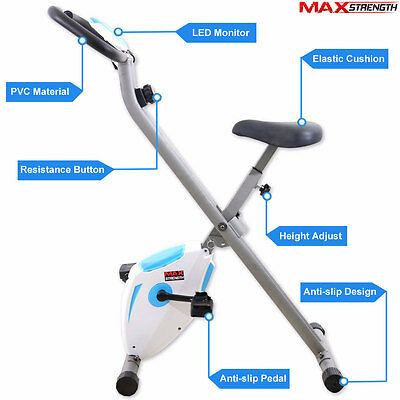 Foldaway Magnetic Exercise Machine Cardio Fitness Gym Bike Trainer 2kg Flywheel
