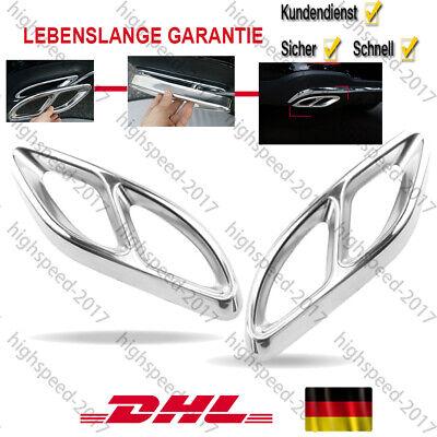 Auspuffblende Auspuff Abdeckung für Mercedes A B C E GLE GLC c207 w212 W176