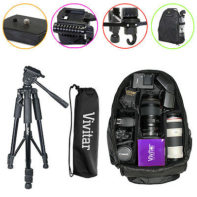 Tripod Backpack Accessory Kit for Canon Rebel T7i T6i T5 T4i T4i T3i DSLR Camera