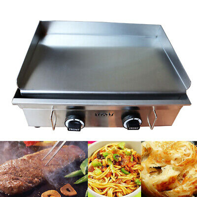 Countertop Gas Griddle Restaurant Flat Top Grill Bbq 2800pa Kitchen Teppanyaki
