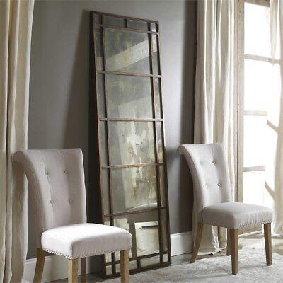 Metal Floor Mirror - Rustic Bronze Xl Metal Wall Floor Mirror Leaner Antiqued Glass Large 79