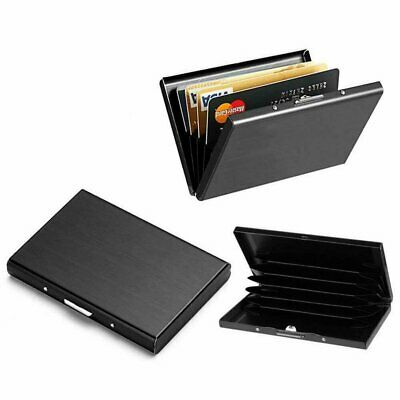 Men Stainless Steel RFID Blocking Credit Card ID Holder Slim Money Travel Wallet Clothing, Shoes & Accessories