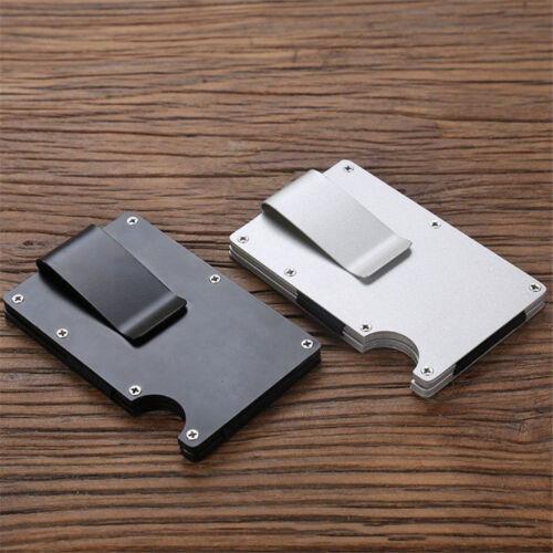 Mens RFID Blocking Slim Money Clip Wallet Credit Card ID Hol