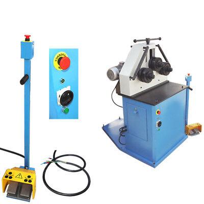 Hydraulic Roll Bender 220v 2hp Hv Bending Square Round Flat Steel Roller