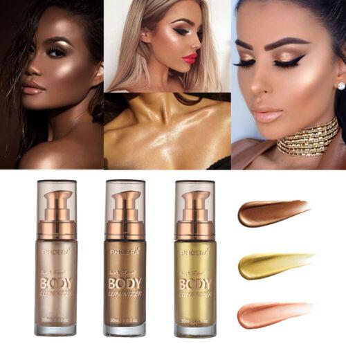 Body Illuminator Make-up Creme Gesicht Glitzer aufhellende Kosmetik-an
