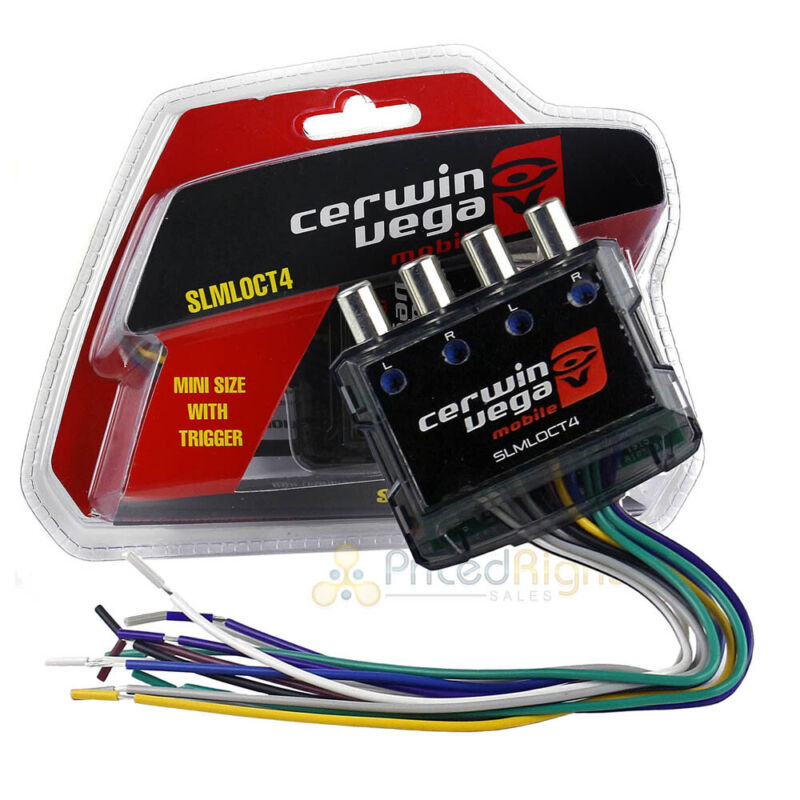Cerwin Vega 4 Channel Line Output Converter RCA Inputs Mini Trigger 80W SYNCLINK