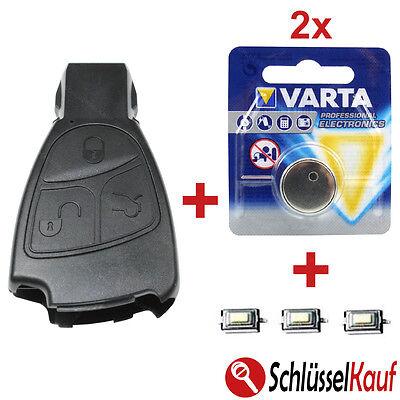 Autoschlüssel 3 Tasten Gehäuse SET passend für Mercedes W168 W202 W203 W210 W211