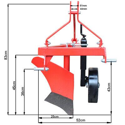 Einschar-Beetpflug Kat.1 Pflug Kleintraktor 12 PS 1 Schar Pflug