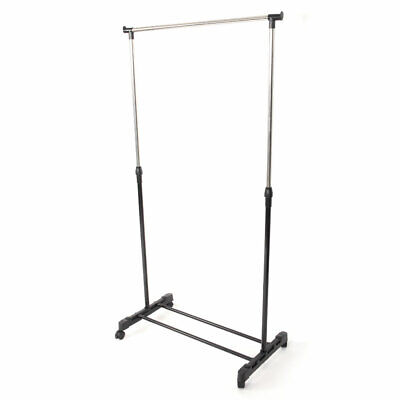Single-bar Vertical & Horizontal Stretching Stand Clothes Rack with Shoe -
