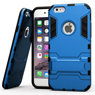 Shock Absorbing Hybrid Rugged Rubber Defender Case Cover for iPhone 6 6S Plus