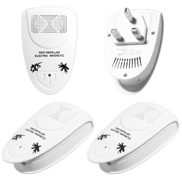 4 x Ultrasonic Plug In Pest Repeller & Night Light Mouse Mice Rat Spider Insects