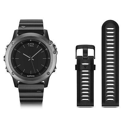 Garmin fenix 3 Sapphire Metal GPS Sport Watch Trail Running Swim 010-01338-20