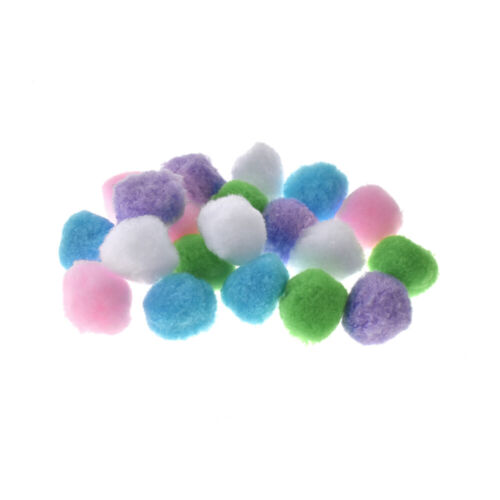 Small Fuzzy Craft Pom-Poms, Pastel Assortment, 1-1/4-Inch, 40-Piece