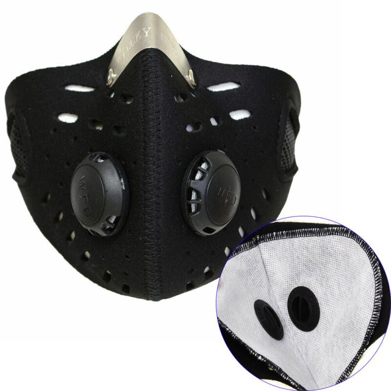 Outdoor Motocycle Bicycle Cycling Ski Half Face Mask w/ Extra Filter Breathable