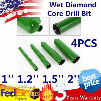 1 1.2 1.5 2 Wet Diamond Core Drill Bit For Concrete Premium 4pcs Us Ship
