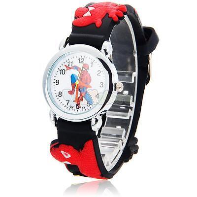 Детские часы с изображением главного героя - ЧЕЛОВЕК ПАУК. Красочный циферблат с героем  ЧЕЛОВЕК ПАУК. Часы имеют качественный кварцевый часовой механизм, надежный корпус из металла, минутные деления, секундную стрелку. Прекрасный подарок малышу