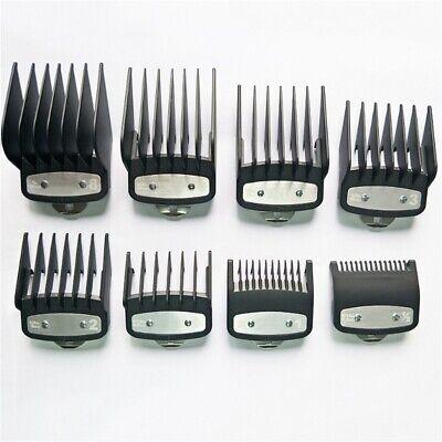 8pcs For Wahl Premium Clipper Guard Set Attachment Magnetic Combs Trimmer Metal