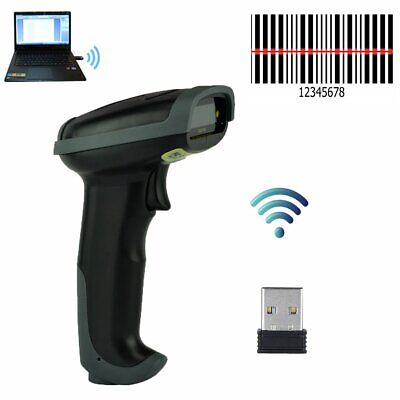 Automatic Wireless 2.4ghz Laser Barcode Scanner Gun Reader Wifi Cordless For Pos