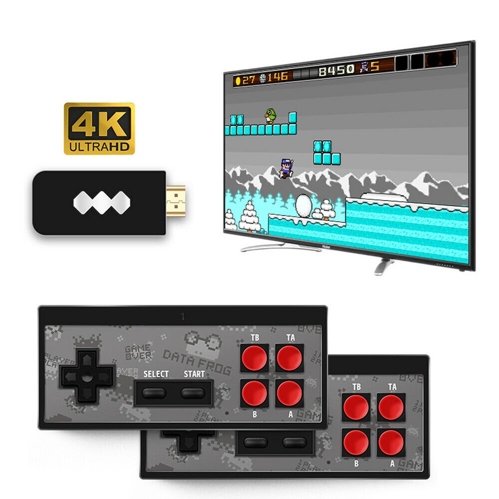 Retro Mini HDMI 4K TV Game Stick Console 568 Built-in Games 2*Wireless Gamepad #