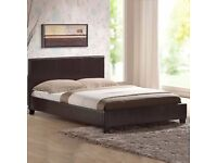 King Size Leather Bed Frame ~~~~~ Brand New ~~ Fast Free Delivery