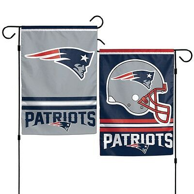 New England Patriots Polyester 12x18 2 SIDED Garden Yard Wall Flag NWT Football - Patriots Flag