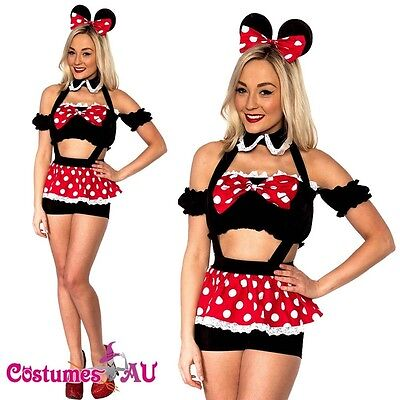 ickey Mini Mouse Costume Fancy Dress Halloween Disney Outfit (Minnie Mickey Halloween)