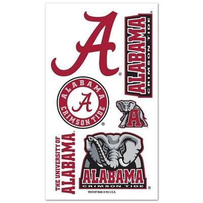 Alabama Crimson Tide Temporary Tattoos - Alabama Crimson Tide Temporary Tattoos 10 Pack [NEW] NCAA Decal Stickers CDG