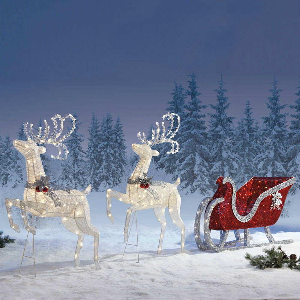 Outdoor Sleigh Decoration Christmas